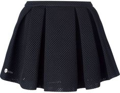 $705, Black Skater Skirt: Philipp Plein Textured Skater Skirt. Sold by farfetch.com. Click for more info: https://lookastic.com/women/shop_items/293087/redirect