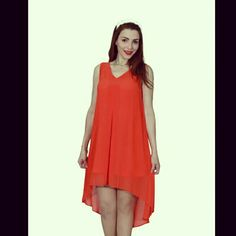 Chiffon Orange dress @sondoss.chaddad