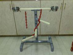 DIY Parrot Stand PVC Pipe #perch #diy
