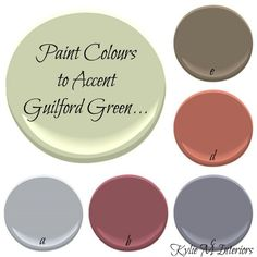 Benjamin Moore 2015 Colour of the Year - Guilford Green - Kylie M Interiors-whole color pallette! Great site, photos and tips Room Colors, Wall Colors, Accent Colors, House Colors, Paint Colours, Benjamin Moore Colors, Benjamin Moore Paint, Deco Cool, Interior Paint Colors