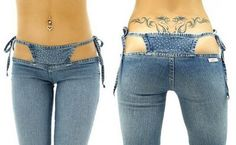 Denim thong sewn INTO your jeans to show off. Nothing says white trash class like this.