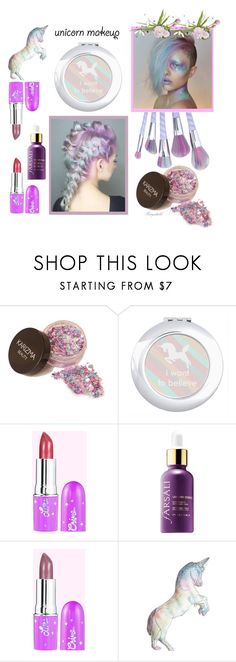"""""""Unicorn Makeup"""" by ragnh-mjos ❤ liked on Polyvore featuring beauty, Silken Favours, contest, Beauty, makeup and unicornmakeup"""