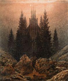 cross in the woods - caspar david friedrich