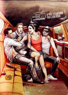 Viva Musica Viva! - Amy Winehouse    / Illustrator: SHIKO  Advertising Agency: Hermandad, Brazil  Creative Director: Paulo Lima  Art Director: Lucas Zaiden  Copywriter: Paulo Lima  Planner: Rafael Forti