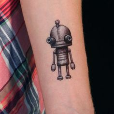 Robot set of 2 Temporary Tattoos machinarium robot by SugarTats, $4.50