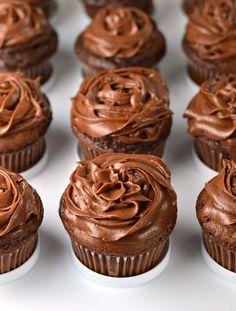 Chocolate mascarpone truffle cupcakes. Guaranteed happiness!