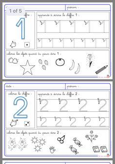 Montessori Math, Preschool Curriculum, Kindergarten Math, Math Activities, Preschool Activities, Numbers Preschool, Math Numbers, School Worksheets, Number Worksheets