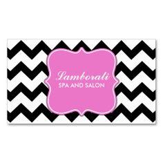 Chevron Zig Zag Pattern Professional Elegant Pink Business Card