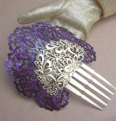 beautiful purple hair comb from Spain