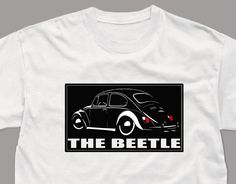 VW Beetle T Shirt Kaefer Vintage Classic Car Tshirt  White tee  ( S - 5XL )   #SOLS #BasicTee