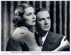 Adrienne Ames and David Manners in a publicity still from From Hell To Heaven, Paramount Pictures, 1933