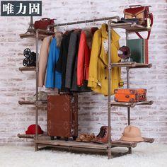 Goedkope kleding winkel rek houten display rek kleding winkel kleding rekken plank vloer vintage kleding winkel props, koop Kwaliteit Eettafels rechtstreeks van Leveranciers van China: 1___