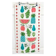 Sweet! 🍍🍎🍉🍇🍐🍓🍈 It's finally Friday! . . Vintage tea towel available at NeatoKeen. Click on profile link to shop. FREE US shipping code too.…