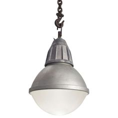 Industrial Frosted Pendant | From a unique collection of antique and modern chandeliers and pendants  at http://www.1stdibs.com/furniture/lighting/chandeliers-pendant-lights/