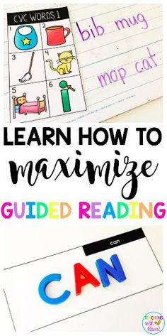 Do you teach guided reading in kindergarten? learn how to maximize your guided reading instruction. Guided Reading Groups, Reading Centers, Reading Resources, Reading Strategies, Teaching Reading, Reading Tips, Teaching Kids, Comprehension Activities, Literacy Activities