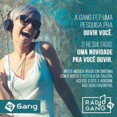 Rádio Gang em  http://gang.com.br/radiogang/   - da @gangoficial    #gangoficial #radiogang #ALQME