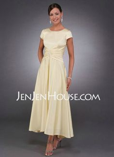 Mother of the Bride Dresses - $78.49 - A-Line/Princess Scoop Neck Asymmetrical Charmeuse Mother of the Bride Dresses With Ruffle (008005699) http://jenjenhouse.com/A-line-Princess-Scoop-Neck-Asymmetrical-Charmeuse-Mother-Of-The-Bride-Dresses-With-Ruffle-008005699-g5699