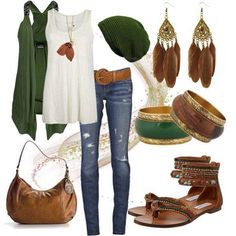 20 FASHION COMBINATIONS Tribal & Green