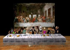 Image result for appropriated art for the last supper