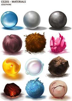 Material Studies by =Joaru on deviantART