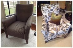 My first reupholstery project! Step by step reupholstery tutorial, 40 pictures of the entire transformation.