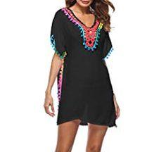 Da Donna estate spiaggia bikini coprire Sarongs Wrap Dress Size 4 6 8 10 12 14