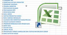 24 BERKAS ADMINISTRASI GURU DALAM 1 FILE EXCEL  - BERKAS SEKOLAH- Aplikasi Excel yang dapat membantu pekerjaan Guru dan Wali Kelas untuk me...