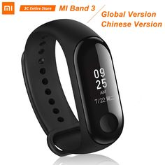 Original Global Xiaomi Mi Band 3 Smart Bracelet Wristband OLED Instant Message Caller ID Miband 3 Fitness Tracker Smart Bracelet, Bracelet Watch, Fitness Wristband, Caller Id, Fitness Bracelet, Fitness Watch, Fitness Tracker, Smart Watch, Smartwatch
