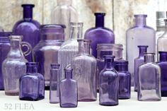Purple and Lavender Bottle Collection - via 52 Flea