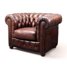 L'Original Fauteuil Chesterfield en cuir | Rose & Moore