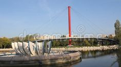 Video about Modern architecture in the park - lake and bridge. Video of mirrored, green, architecture - 60049728 Modern Architecture, Bridge, Stock Photos, Park, Bridge Pattern, Modernism, Bridges, Parks, Legs
