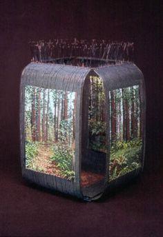 Jeanette Ahlgren  Cheatham Grove   Woven glass beads, oxidized copper wire