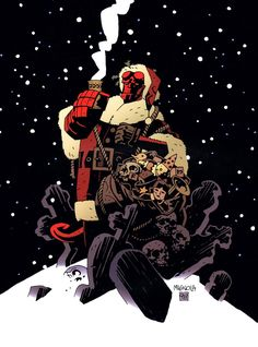 Hellboy Holiday Card by Mike Mignola