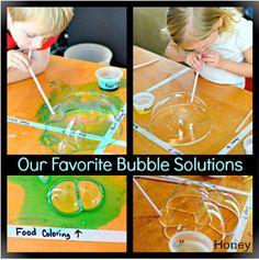 In Lieu of Preschool - Indoor Bubble Experiment