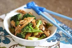 Ginger Chicken and Broccoli Stir Fry with Oyster Sauce recipe by Barefeet In The Kitchen
