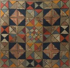Diamond Geometric rug, nice pattern and color treatment Could be adapted for a crocheted afghan or needlepoint