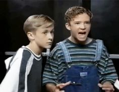 This is the greatest thing i've ever seen! Ryan Gosling & Justin Timberlake during Mickey Mouse Club days!