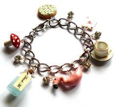 Alice in Wonderland Charm Bracelet $55.00