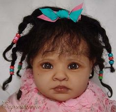 *Beauty*Reborn*TODDLER*BABY*Ethnic*AA*Biracial*Human Ethnic Hair*Pretty Chiffon*