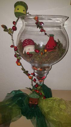 4 seasons autumn amigurumi Erwin, Peter, Henry made by Iris W. / crochet pattern by lalylala