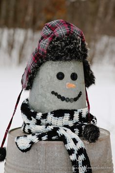 So You want to Build a snowman- Galvanized Snowman - Finding Home
