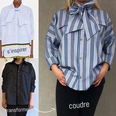 s'inspirer, transformer, coudre : pour le numéro 2, je suis partie d'une chemise inspirante de Zara (je n'achète pas chez eux pour des raisons éthiques ! ;)) et j'ai utilisé un patron de Kommatia donc voici Chemise Zara vs T005 Chemise ample de Kommatia Patterns Pas à pas (gratuit) sur le blog de L'Indispensable de la couture