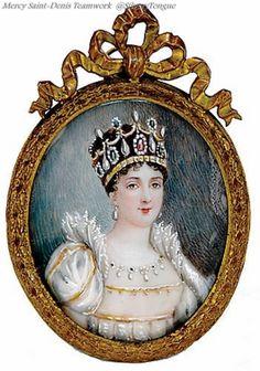 Empress Josephine miniature portrait.
