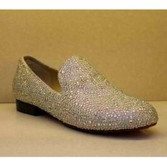 Christian Louboutin Crystal covered loafer