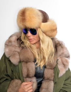 accessories - 2015 lafuria gold sable fur hat