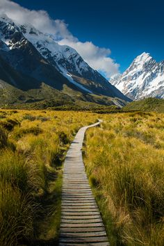 Road to Mt. Cook (New Zealand) by Preedee Kanjanapongkul / this looks like a long long long way x