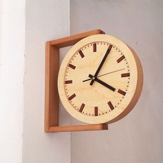 Clocks – Decor : Side view wooden clock -Read More – Wall Clock Wooden, Wood Wall, Clock Wall, Wall Clock Square, Decoration Palette, Deco Luminaire, Cool Clocks, Wall Clock Design, Diy Clock