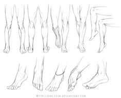 +LEGS AND FEET STUDY+ by =jinx-star