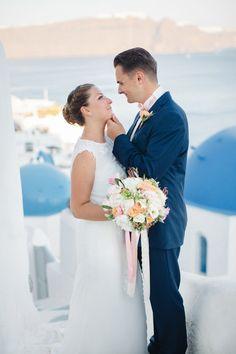 Santorini wedding just for two