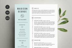 Resume & Cover Letter Template by Refinery Resume Co. on Creative Market